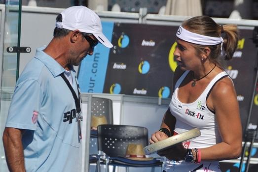 Miguel y Carolina Navarro Miguel Sciorilli, el trainer del padel