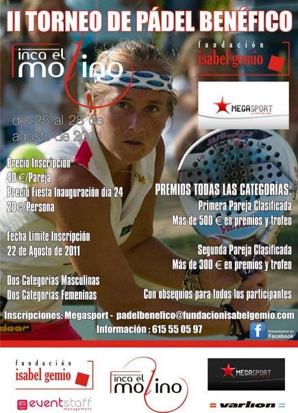 II Torneo I Gemio padelgood II Torneo de Pádel Benéfico a favor de la Fundación Isabel Gemio.