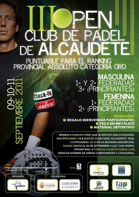 alcaudete padelgood III Open Club de padel de Alcaudete.
