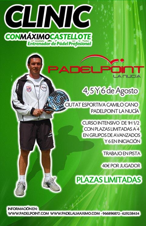 castellote clinic padelgood Maxi Castellote impartirá un clinic en La Nucía.