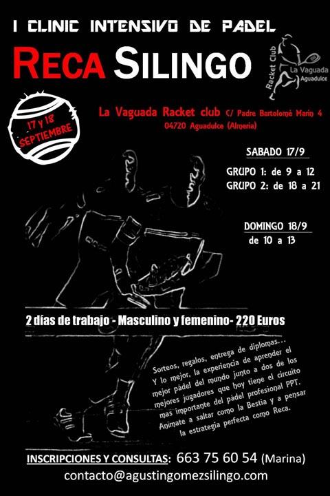 clinic silingo racket padelgood Clinic de Silingo-Reca en Almería.