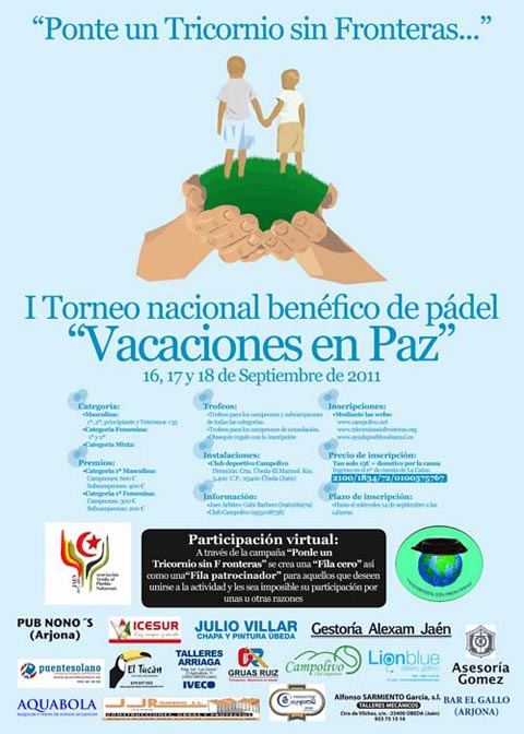 """vacaciones paz padelgood I Torneo Nacional Benéfico """"Vacaciones en Paz"""". Jaen."""