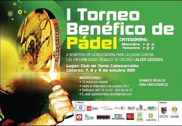 alcer padelgood I Torneo benéfico de padel. Alcer Cáceres.