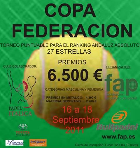 cf fap padelgood I Copa Federación 2011. Federación Andaluza.