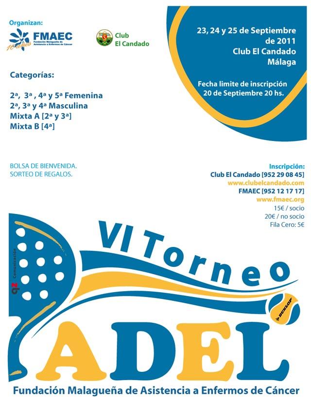 fmaec padelgood La Fundación Malagueña de Asistencia a Enfermos de Cáncer organiza el VI Torneo de Pádel.