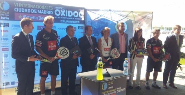 presentacion madrid padelgood Presentación de los VI Internacionales Ciudad de Madrid Estrella Damm Trofeo Oxidoc.