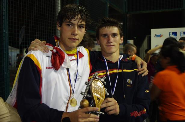 Mundial Menores In%CC%83igo David Padelgood Mundial Menores: Seleccion Española con los Navarros Iñigo y David campeona del mundo