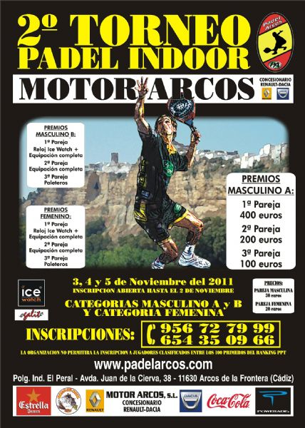 Torneo Padel Indor Motor Arcos Padelgood II Torneo Padel Indor Motor-Arcos (Padel Arcos)