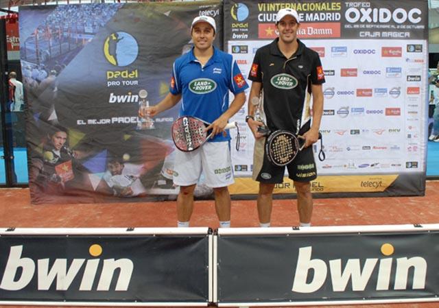campeones madrid padelgood Juan y Bela campeones en la Caja Mágica.