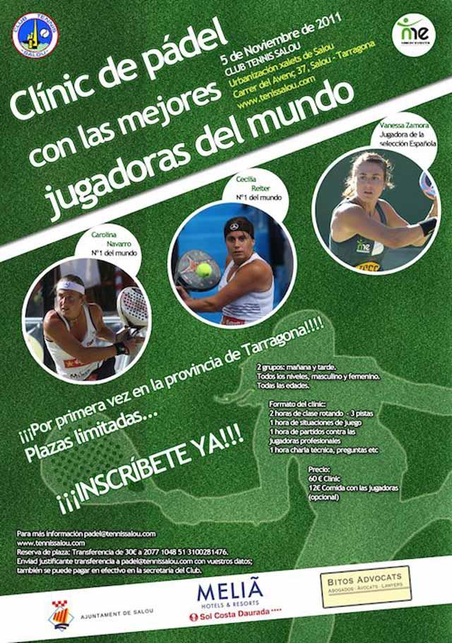 clinic navarro1 padelgood Clinic Carolina Navarro. Club de tennis Salou