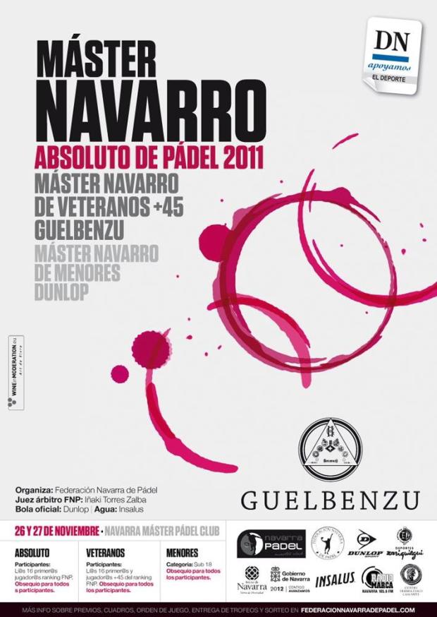 Cartel Master Guelbenzu y Dunlop Master Navarro Absoluto, Veteranos +45 y Menores.