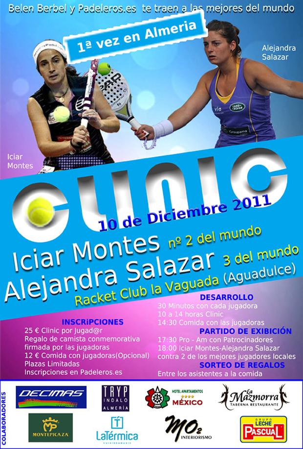 cartel almeria padeleros padelgood Clinic Iciar Montes y Ale Salazar en Almería próximo Sábado 10 de diciembre