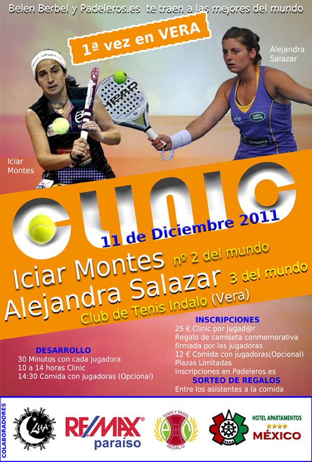 cartel vera padeleros padelgood Clinic Iciar Montes y Ale Salazar en Almería próximo Sábado 10 de diciembre