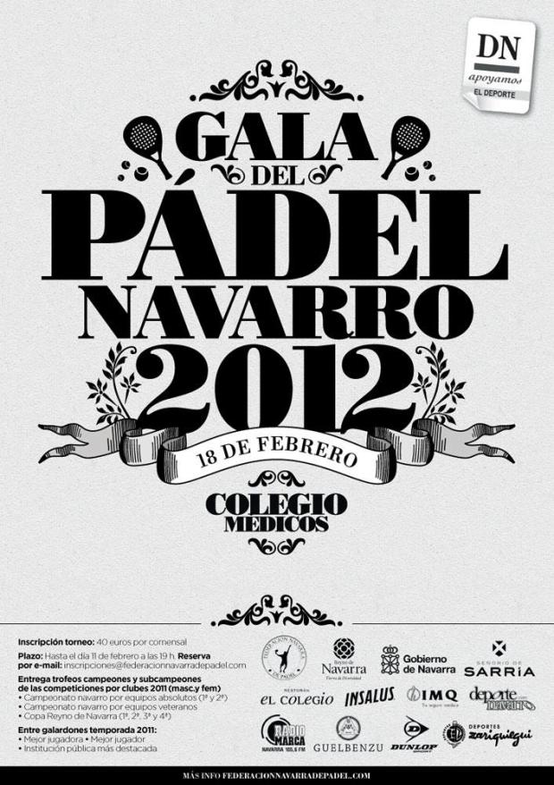 GALA. Cartel Gala de padel Navarro 2012
