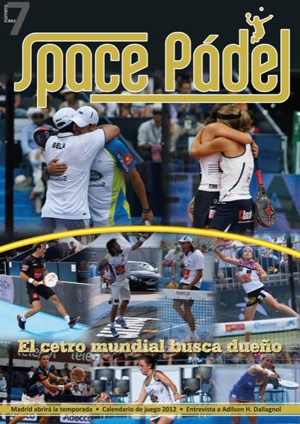 Portada Nº 7 Nº.7 de la revista Space Padel ya repartiendose en el #mundialbcn2012