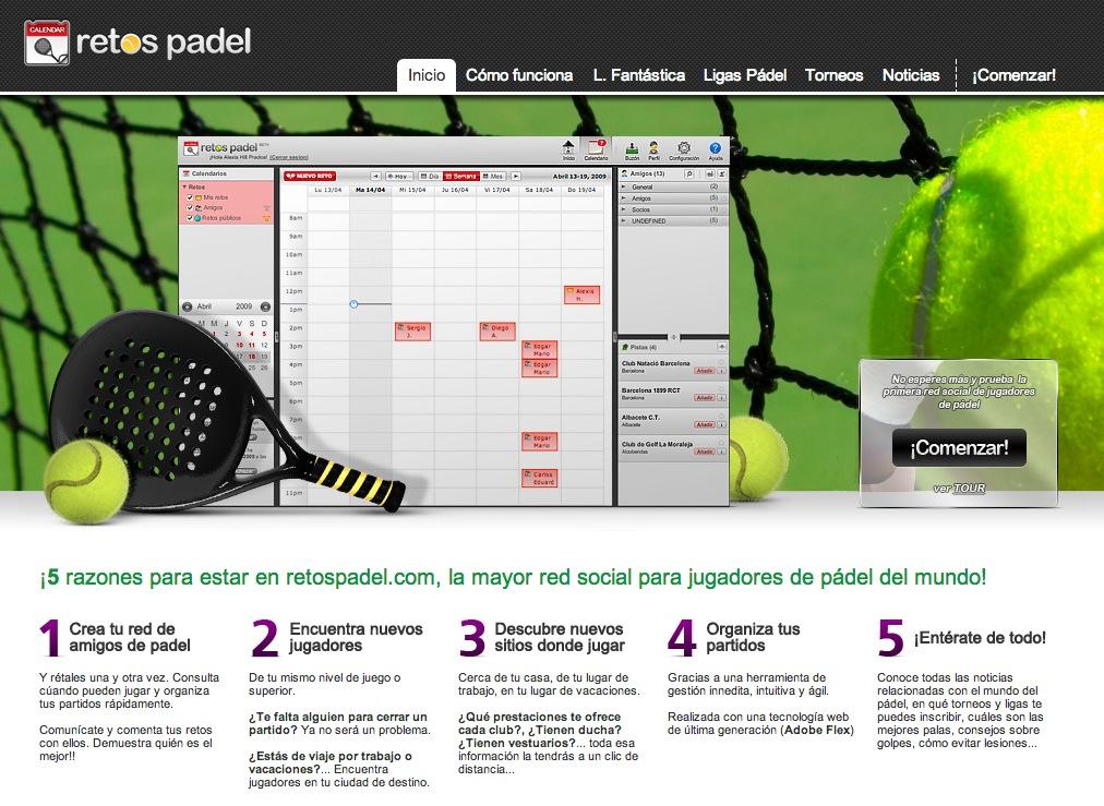 Retos Padel, la mayor red social de jugadores de padel del mundo
