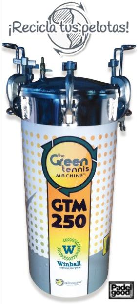 Maquina winball Reciclaje The green Tennis Machine. Recicla las Bolas de Padel y tenis