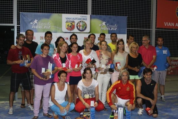 Grupo Campeones Subcamp Consolacion 3 El Vian Automobile cierra la 3ª etapa Circuito #padel Zaragoza 2012