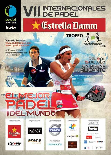 cartel Próxima parada del Padel Pro Tour, Alicante.