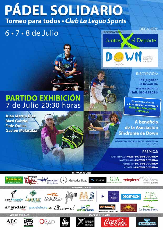 torneo benefico Exhibición PPT en el torneo a beneficio de la Asociación Síndrome de Down de Toledo