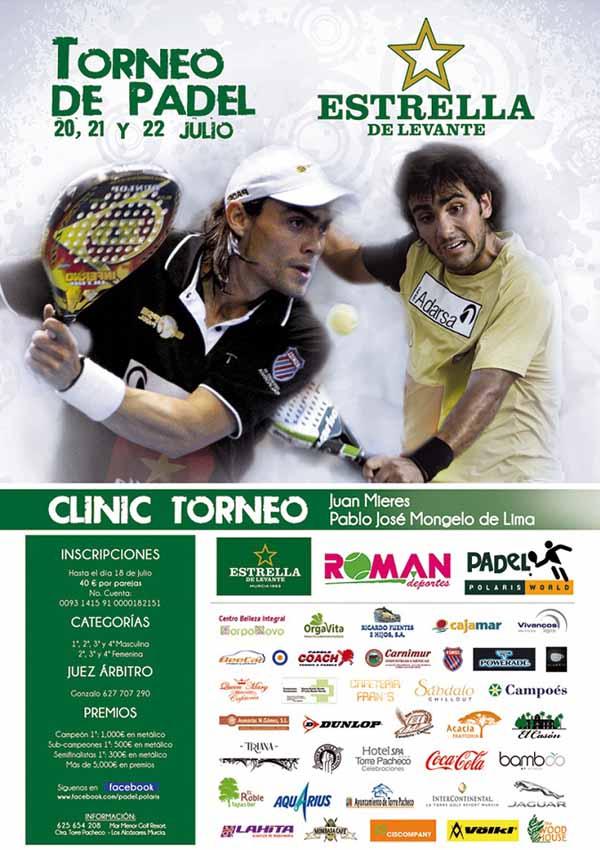 torneo padel estrella levante Clinic de Juani Mieres y Pablo Lima en Mar Menor Golf Resort