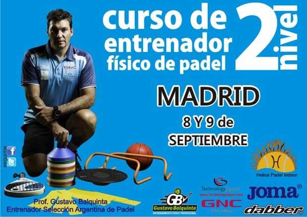 2º curso balquinta Curso de entrenador físico de padel. Madrid.