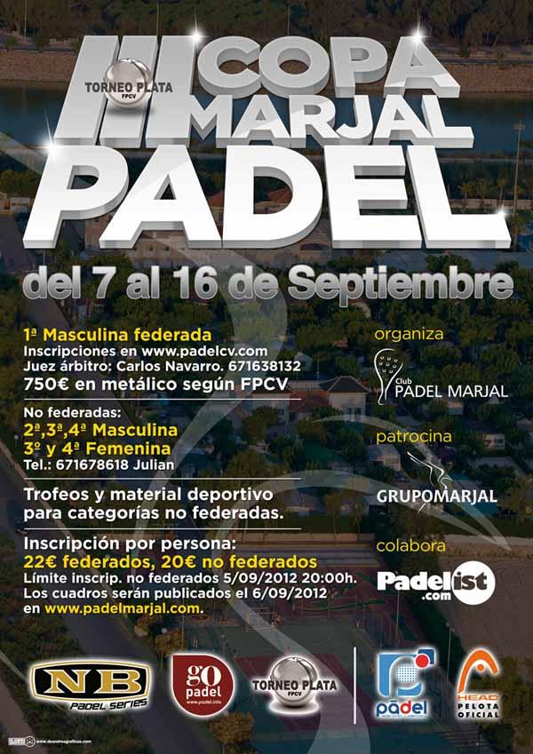 III Copa Marjal 2012 III Copa Marjal. XIV prueba federada en Alicante
