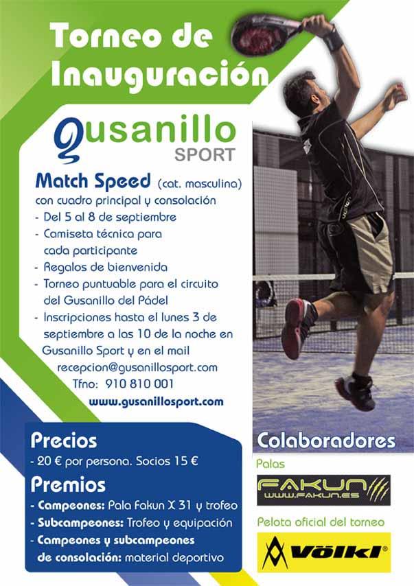 cartel torneo inauguracion Torneo de inauguración de Gusanillo Sport