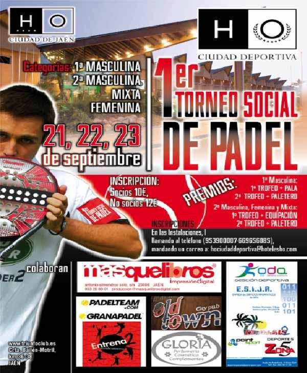 I torneo de padel HO I Torneo HO Ciudad Deportiva. Jaen.