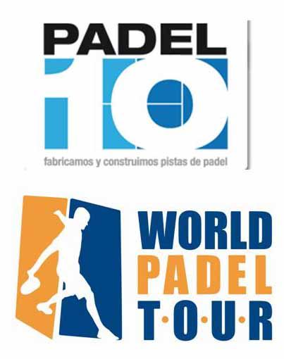 Logo Padel 10 World Padel Tour Padel10, proveedor de la pista oficial World Padel Tour