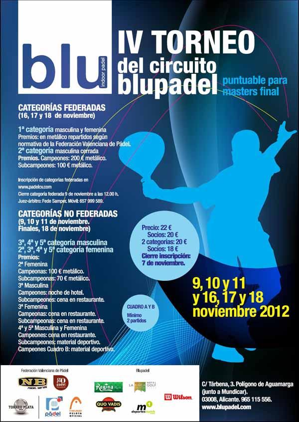 blu1 IV Torneo Circuito BluePadel Plata. Alicante