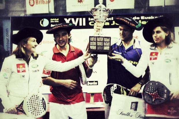 """Ganadores con trofeo1 """"Lo mejor está por Llegar"""" Cronica del Padel Pro Tour Bilbao"""