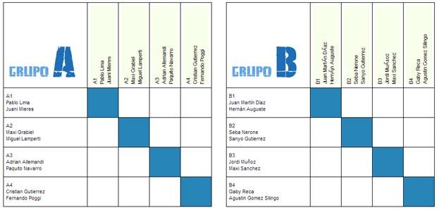 masculino Cuadros y horarios Master Padel Pro Tour 2012