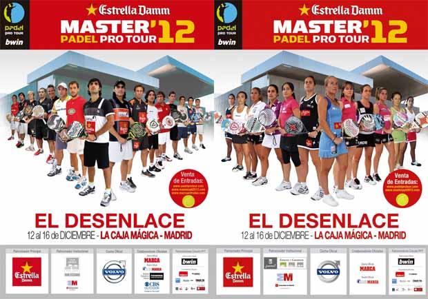 master Cuadros y horarios Master Padel Pro Tour 2012
