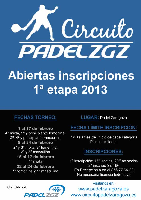 Cartel Circuito 2013