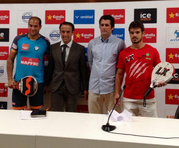 Sebas nerone Mateo Castellá Raúl Arias y Juan José Matea Presentación WPT Valencia. El Ágora será escenario del mejor pádel del mundo