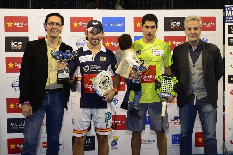 Los campeones Sanyo Gutiérrez y Maxi Sánchez