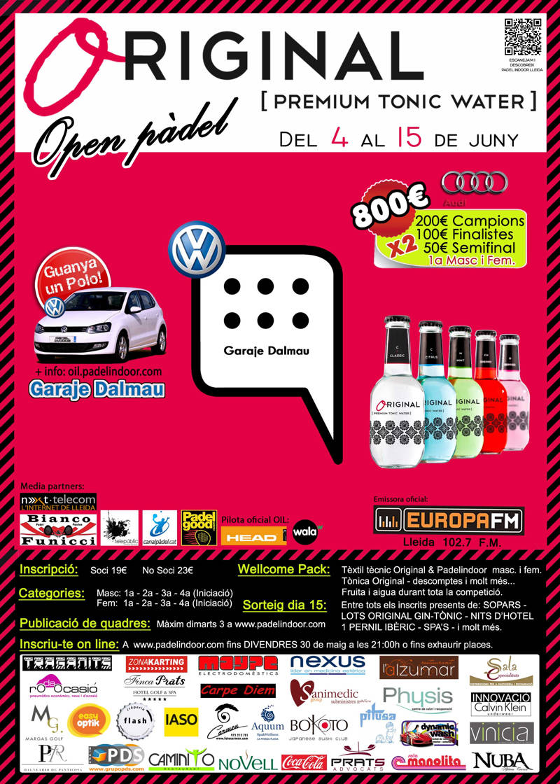 Open Original Tonic Water Padel Indoor Lleida