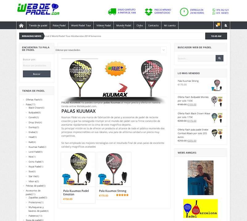tiendas de padel online