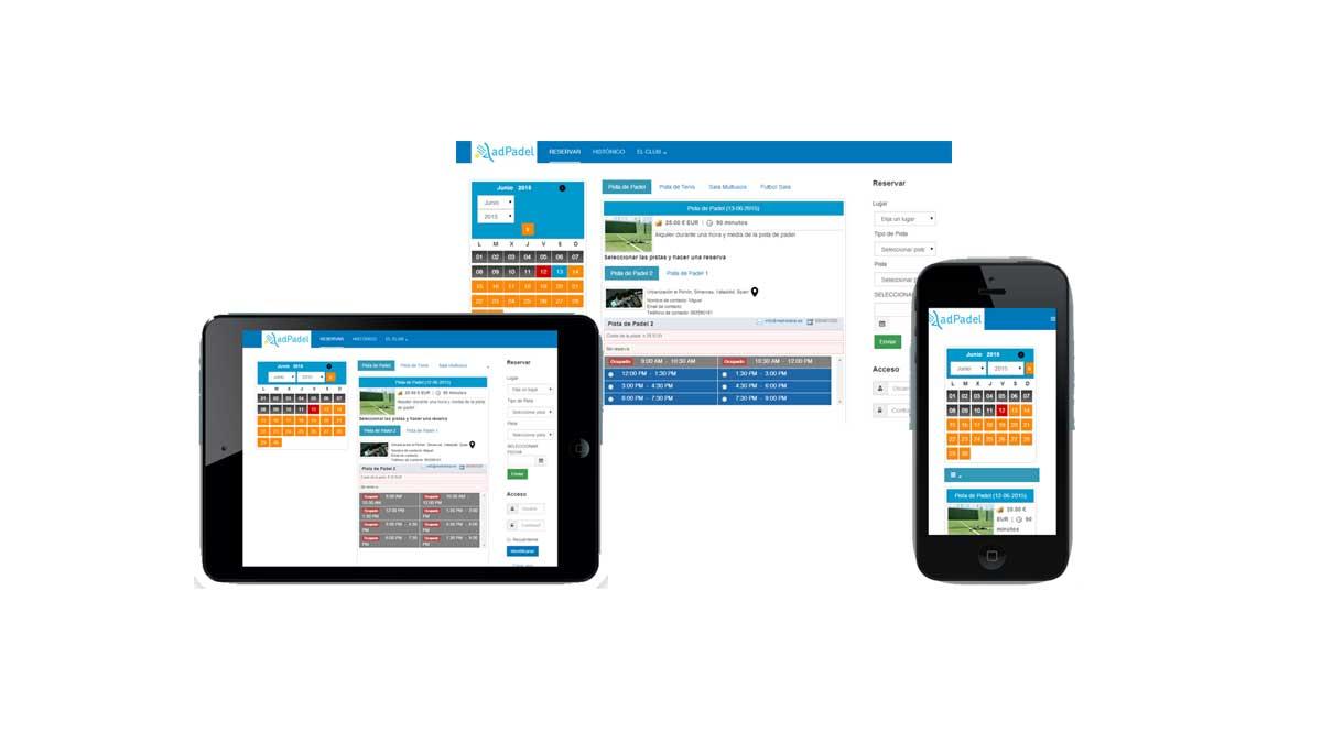 AdPadel, una de las mejores aplicaciones web para gestionar reservas de instalaciones