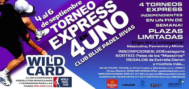 Torneo a beneficio de ASPADO en Blue Padel Rivas
