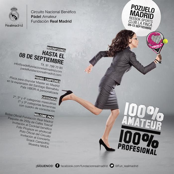 El Circuito Nacional Benéfico de Pádel Amateur de la Fundación Real Madrid llega a Madrid tras las vacaciones