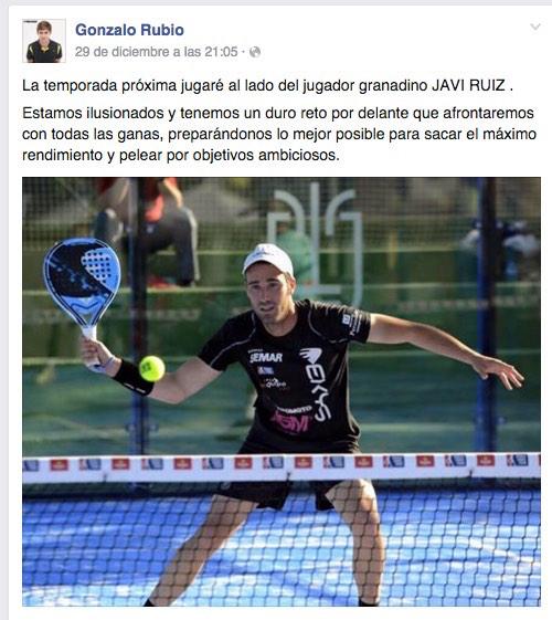 Gonzalo Rubio Facebook Javi Ruiz