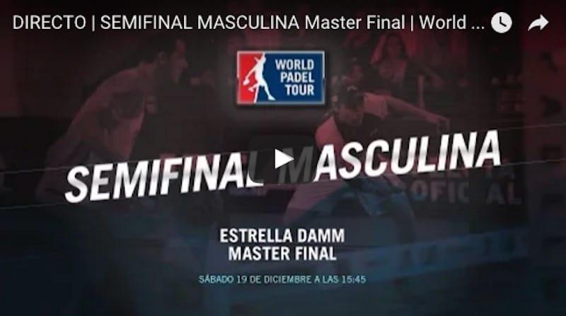 Semifinales masculinas en directo y online Master Final World Padel Tour 2015