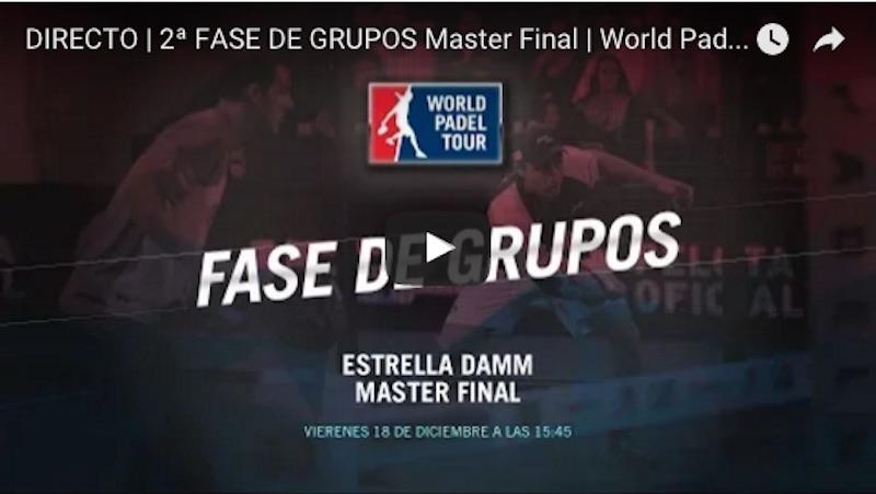 En directo online partidos jornada viernes Master Final World Padel Tour Madrid 2015