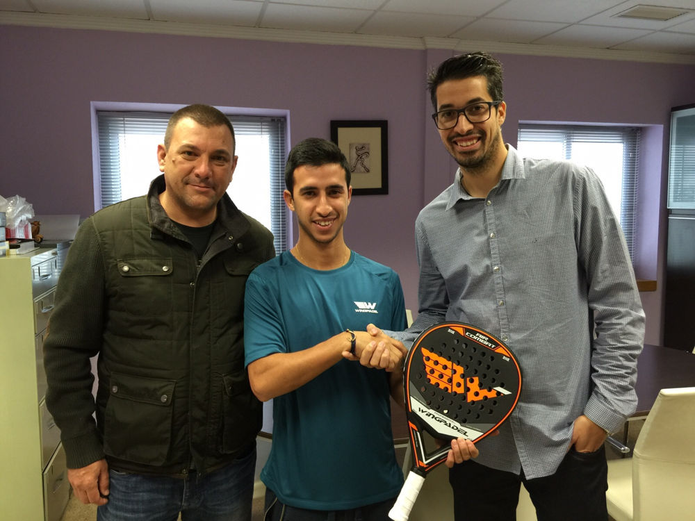 Alvaro Cepero es el nuevo jugador de WingPadel