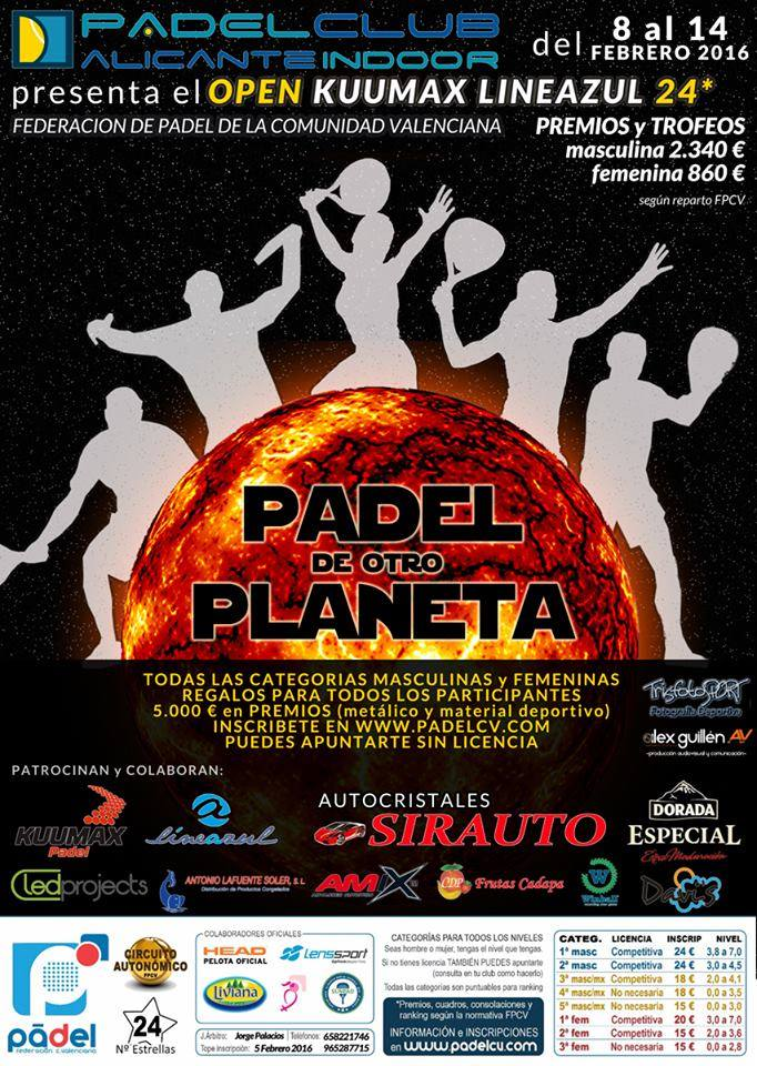 Open Kuumax Lineazul 24* PadelClub Alicante Indoor