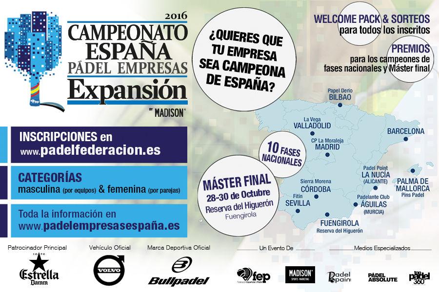 Campeonato de España de Pádel de Empresas Expansión 2016