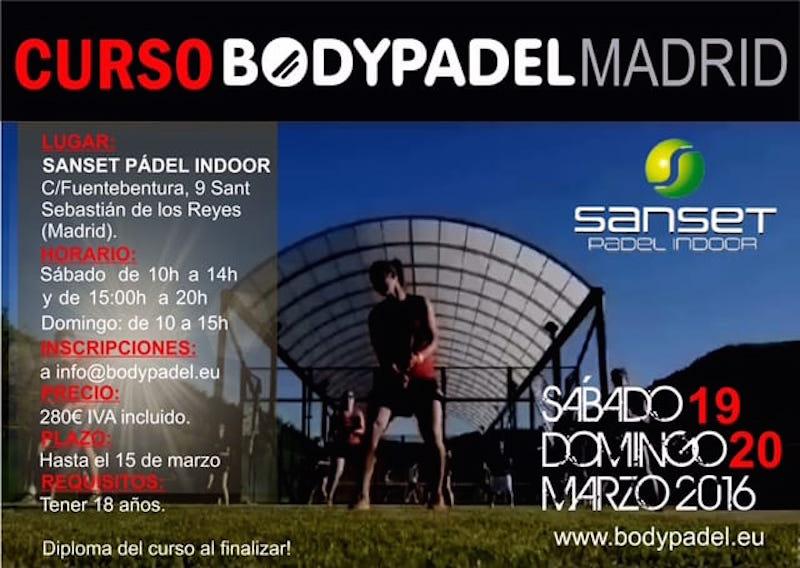 Curso de formación Bodypadel en Madrid