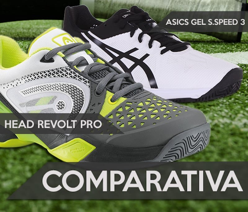 Head Revolt Pro Clay o Asics Gel Solution Speed 3